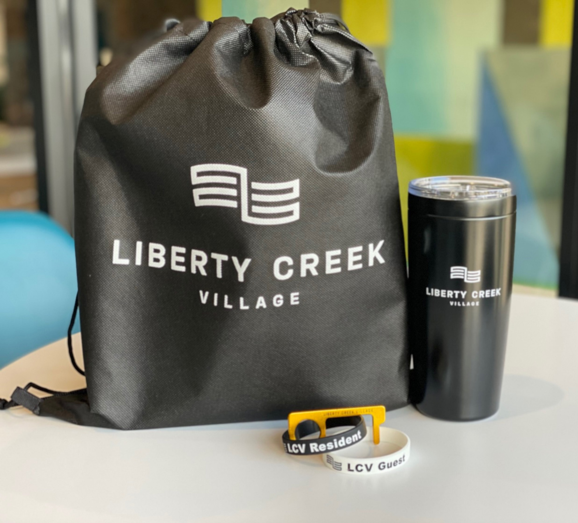 Liberty Creek Village Branded Promotional Items